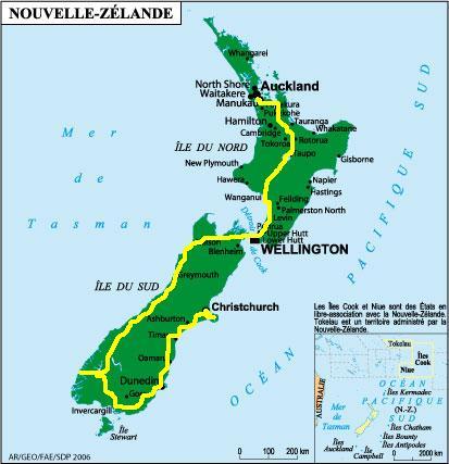 projet de voyage en Nouvelle Zélande